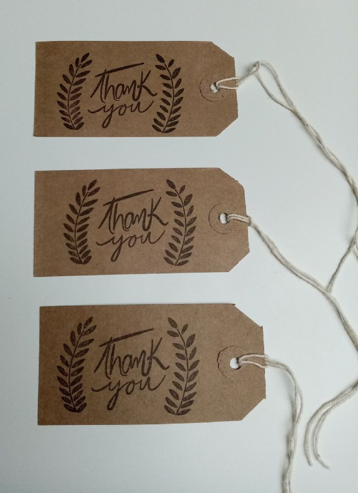 Boho Thank You Tags 10pk